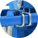 Tynes fitted with U clamps for easy adjustment along the strong grip.
